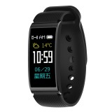 X3 0.96 inch Screen Display Silicone Watch Band Bluetooth Smart Bracelet, IP68 Waterproof, Support Pedometer / Heart Rate Monitor / Sleep Monitor / Blood Pressure Monitor, Compatible with Android and iOS Phones (Black)