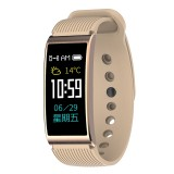 X3 0.96 inch Screen Display Silicone Watch Band Bluetooth Smart Bracelet, IP68 Waterproof, Support Pedometer / Heart Rate Monitor / Sleep Monitor / Blood Pressure Monitor, Compatible with Android and iOS Phones (Gold)