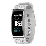 X3 0.96 inch Screen Display Silicone Watch Band Bluetooth Smart Bracelet, IP68 Waterproof, Support Pedometer / Heart Rate Monitor / Sleep Monitor / Blood Pressure Monitor, Compatible with Android and iOS Phones (Silver)