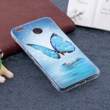Xiaomi Redmi 4X Noctilucent Butterfly Pattern TPU Soft Back Case Protective Cover