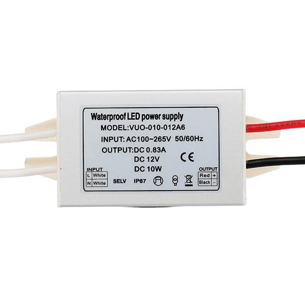 dc12v dc24v 10w waterproof aluminum mini power supply led driver1*ac170 260v to dc12v 24v led driver