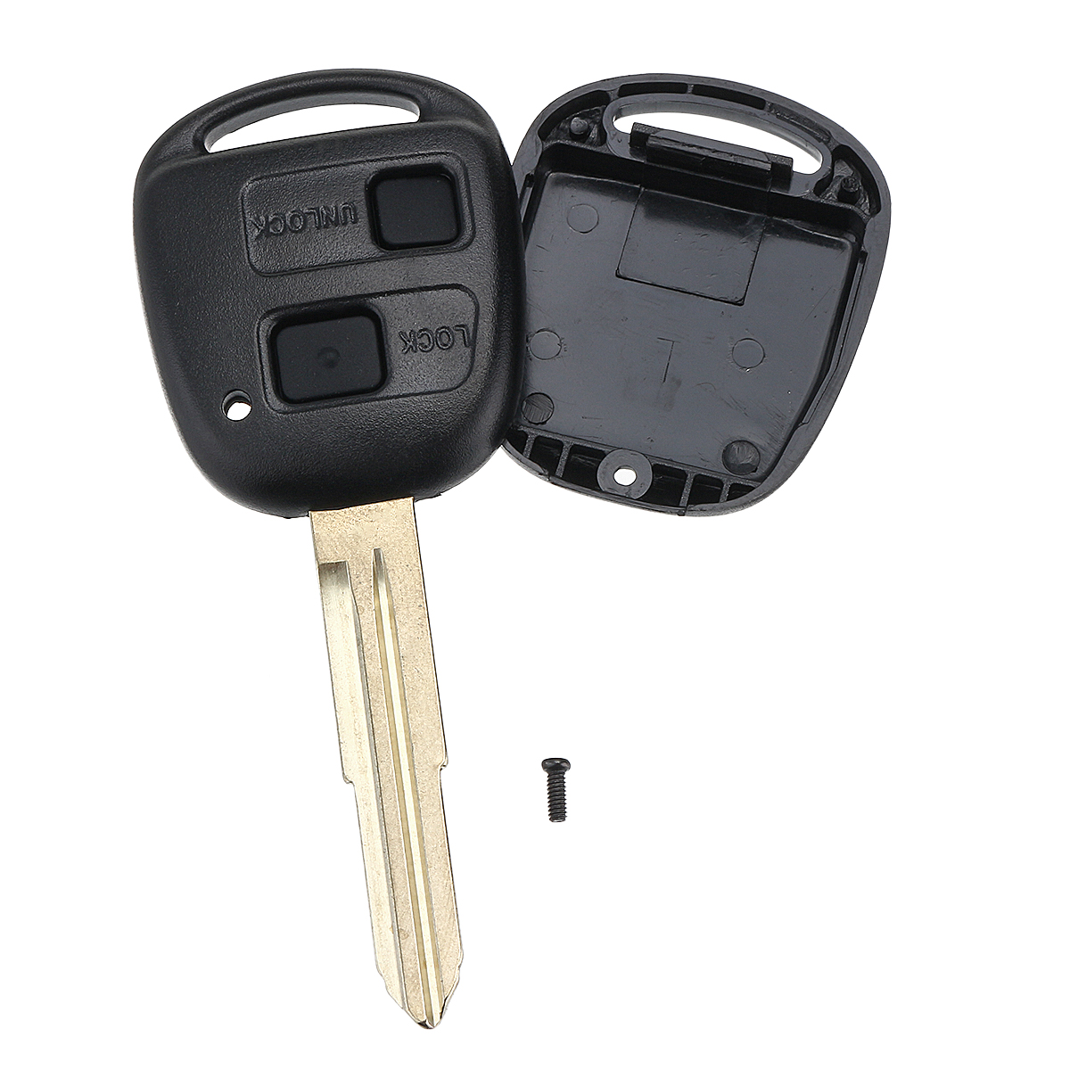 2 button remote key fob with switch battery pad for toyota. Black Bedroom Furniture Sets. Home Design Ideas