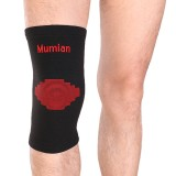 Mumian A03 Classic Red Black Color knitting Warm Sports Knee Pad Knee Sleeve Brace – 1PC