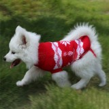 Christmas Snowflake Pet Dog Cat Autumn Winter Sweater Warm Pullover Hoodie Costume