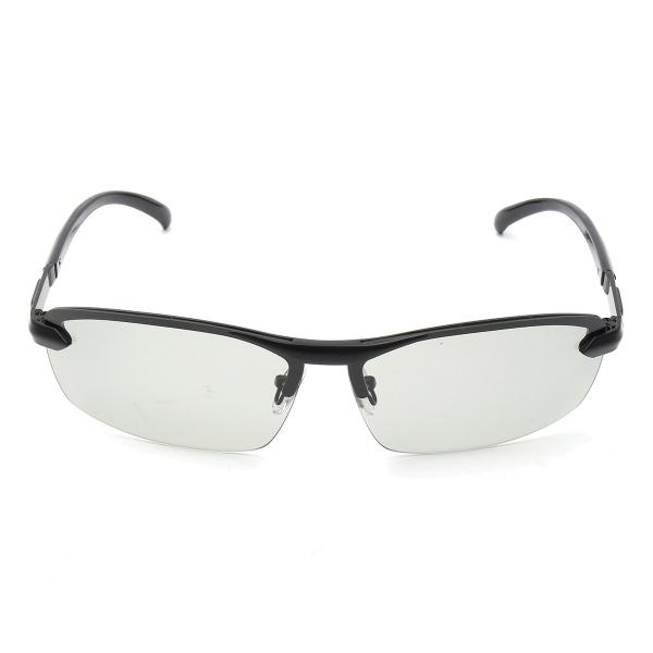 b18df44c076 UV400 Polarized Photochromic Sunglasses Men s Driving Transition Lens Grey  Black