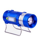 XANES 600LM 4 Color LEDs 500M Range Zoomable Rechargeable LED Fishing Flashlight Lamp With Charger