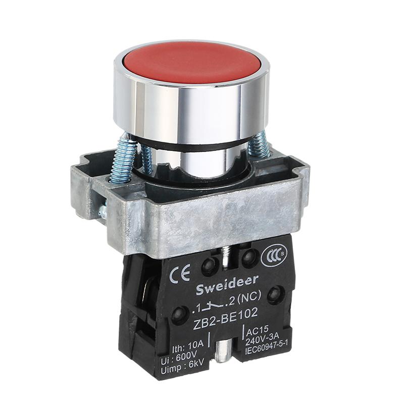 22mm Diameter 1no 1nc Latching Switch Contact Push Button