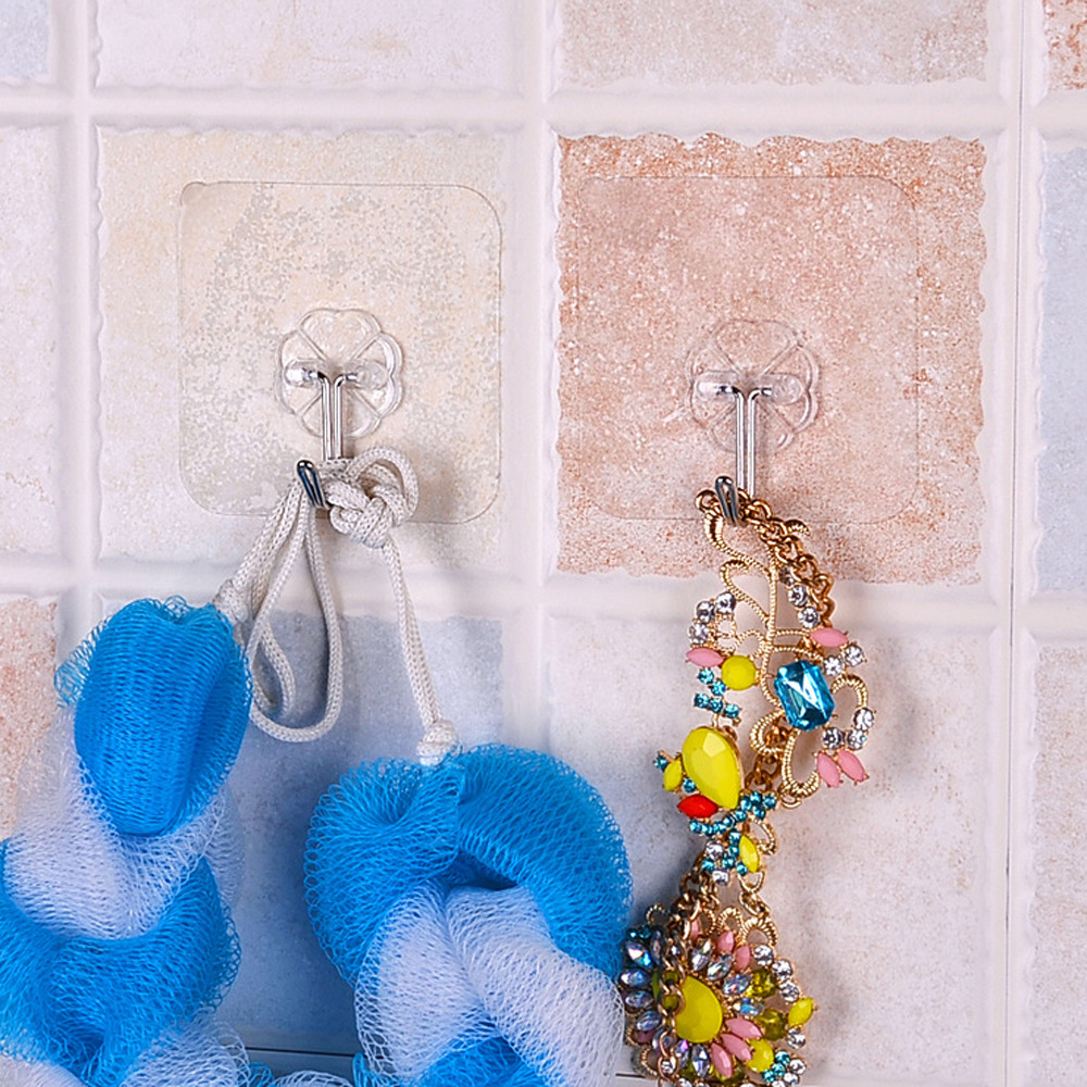 Honana HN-31 6PCs Strong Transparent Suction Cup Sucker Wall Hooks Hanger for Kitchen Bathroom Holder Accessories Wall Storage Hangers