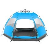 Outdoor 3-4 Persons Automatic Camping Tent Waterproof Double Layer UV Beach Sunshade Canopy
