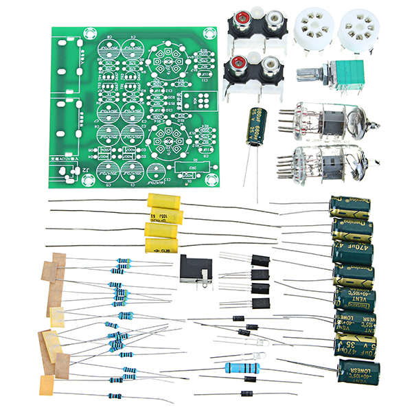 AC 12V 1A 6J1 Value Preamp Tube Preamp Amplifier Board PreAmplifier Module  Pre-Amp Headphone Preamp Bile Buffer DIY Kits Stereo Bass HIFI X10-D