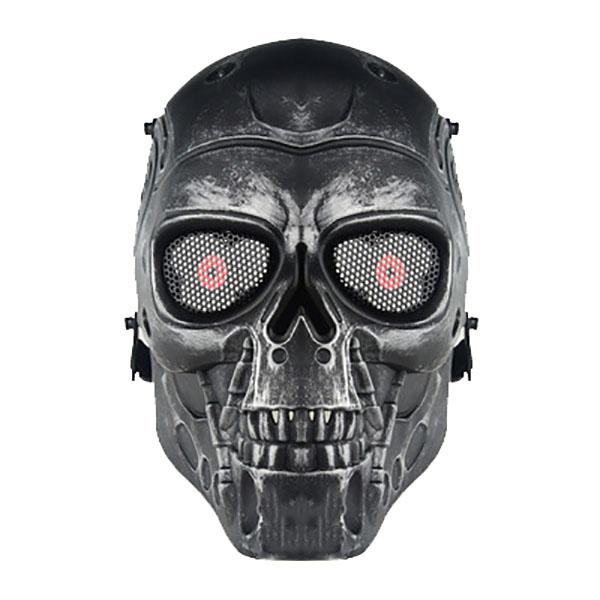 Army Military Skull Skeleton Airsoft BB Gun Game Face Halloween War Mask Black
