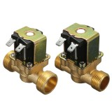 220V Normally Closed 2 Way Brass Electric Solenoid Valve For Air Water Valve