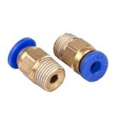 FLSUN 10PCS PC4-01 Thread Nozzle Brass Pneumatic Connector Quick Joint For 3D Printer J-head Remote Extruder