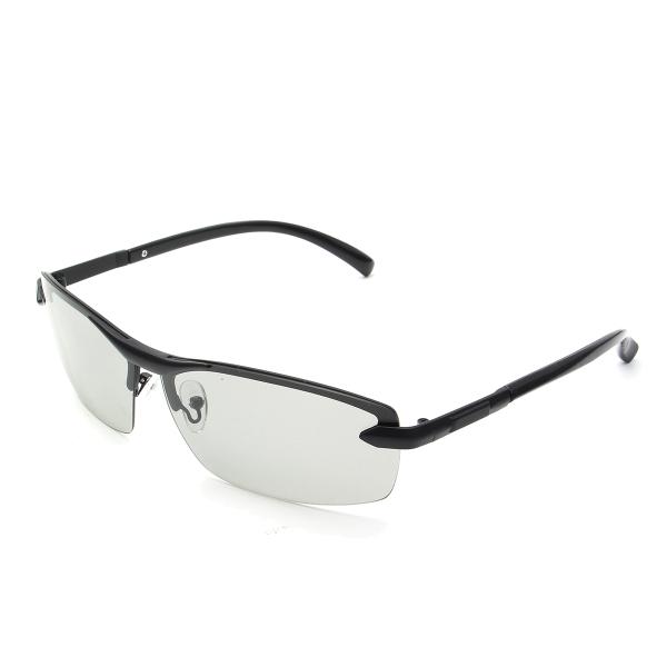 010dbabc51 UV400 Polarized Photochromic Sunglasses Men s Driving Transition ...