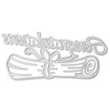 Congratulations Letter Theme Scrapbooking DIY Album Card Paper Diary Craft Maker Metal Cutting Dies