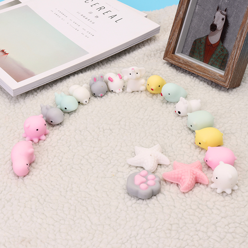 Pink White Starfish Mochi Squishy Squeeze Healing Toy Kawaii Collection Stress Reliever Gift Decor