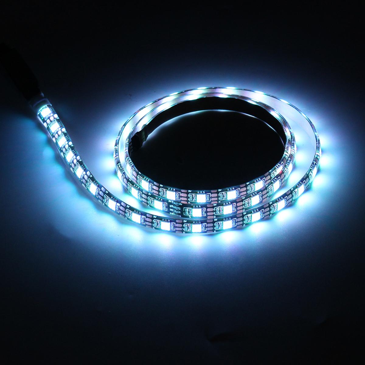 2x50CM + 2x100CM USB SMD5050 RGB LED Strip Light TV Backlight Bar Kit + Remote Control for DC5V