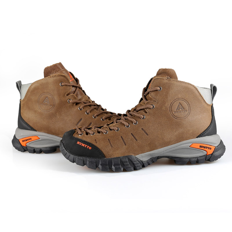 HUMTTO Men Outdoor Climbing Hiking Shoes Leather Trekking Keep Warm Waterproof Sneakers