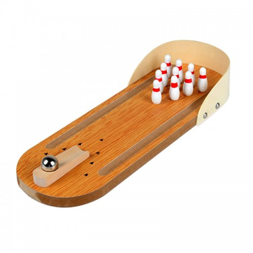 Mini Indoor Desktop Games Wooden Bowling Table Play Games Party Fun Kids Toys Board Games