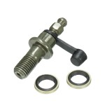 M10x1.25mm Motorcycle Brake Caliper Bleed Screw Banjo Bolt Nipple+Dust Cap