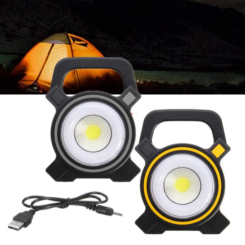 50W USB Rechargeable Solar COB LED Portable Flood Light Outdoor Garden Lantern
