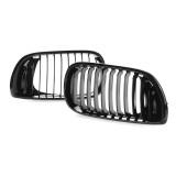Gloss Black Kidney Front Grille For BMW E46 3Series 4-DOOR 4D 02-05 LCI Facelift