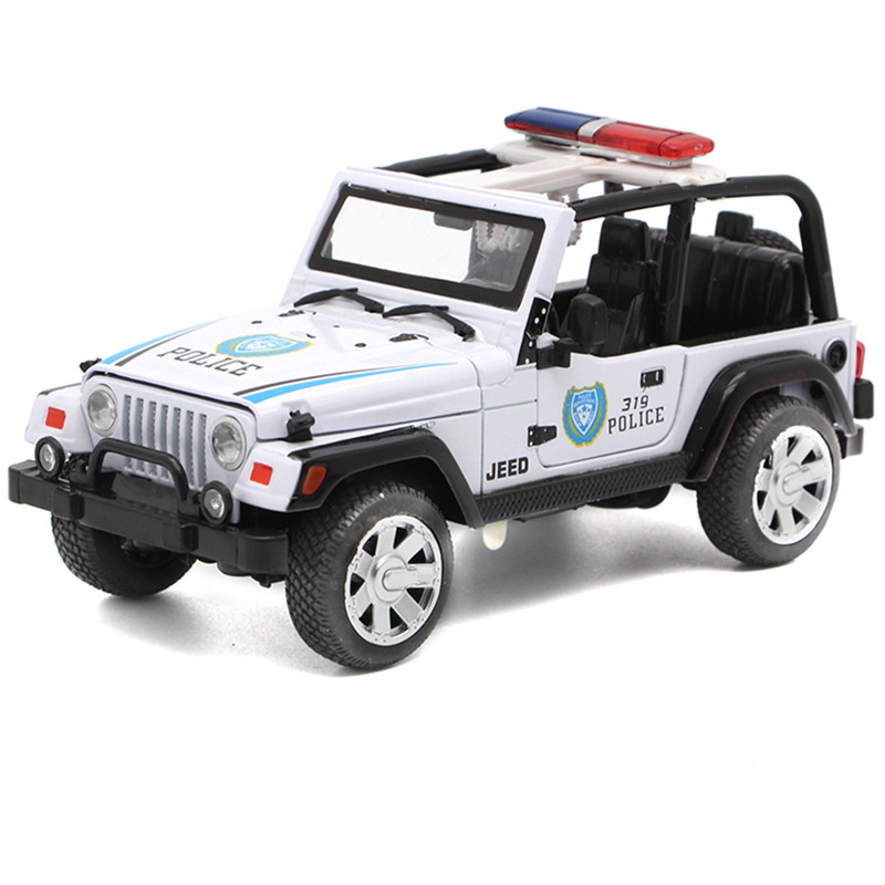 1 32 Alloy Police Car Model With Light Sound Toys For Kids Children