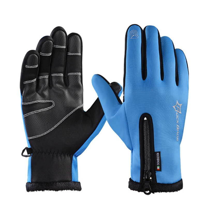 ROCKBROS Cycling Bicycle Thermal Gloves Warmproof Winter Warm Glove Antislip Waterproof Sports Glove