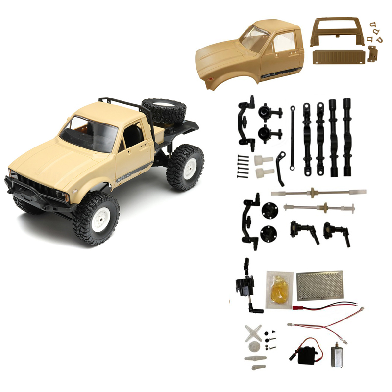 Wpl c14 2 4g 1 16 four drive climber rc car kit with servo for Rc car servo motor