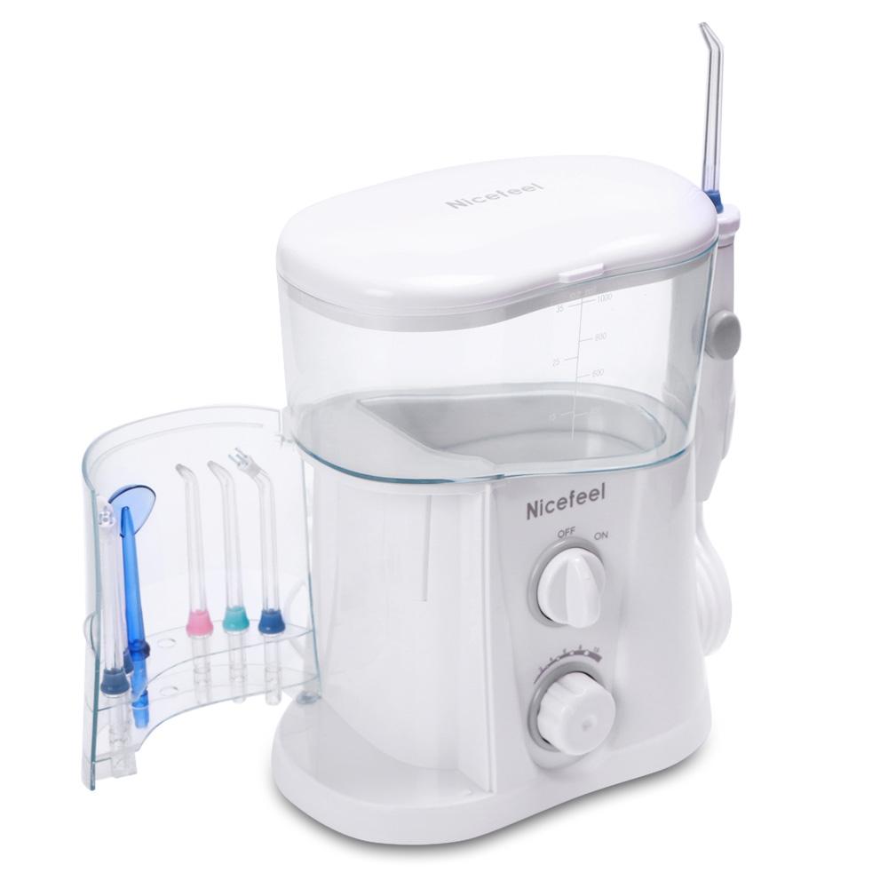 Nicefeel Electric Oral Irrigator Water Flosser with 10 Pressure Settings Toothbrush Dental Care SPA Water Flosser Jet