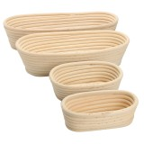 Long Oval Banneton Bread Dough Proofing Rattan Brotform Basket Loaf Proving Rising 4 Sizes