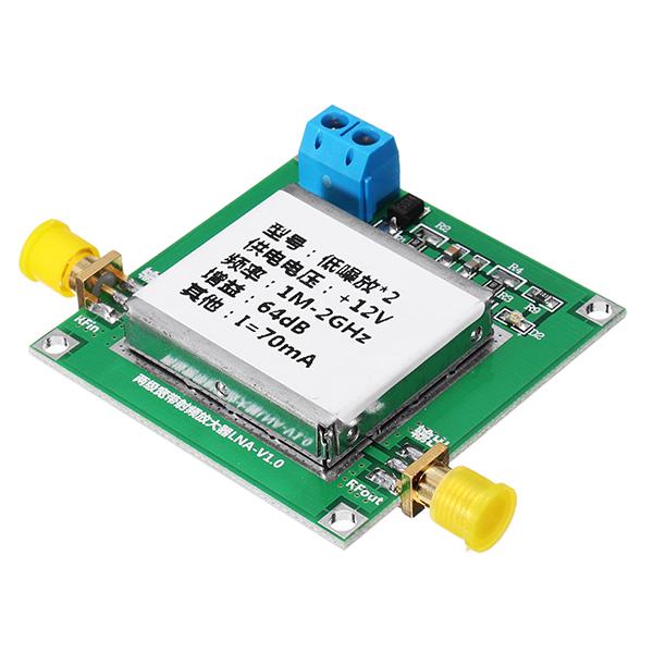 0.1-2GHz 64dB Gain RF Broadband Amplifier Board Low Noise Amplifier LNA