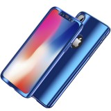 Bakeey Plating 360 Full Body Case+Tempered Glass Film For iPhone X/8/8 Plus/7/7 Plus/6s/6s Plus/6/6 Plus