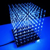 DIY WIFI APP 8x8x8 3D Light Cube Kit Blue LED MP3 Music Spectrum Electronic Kit No Housing