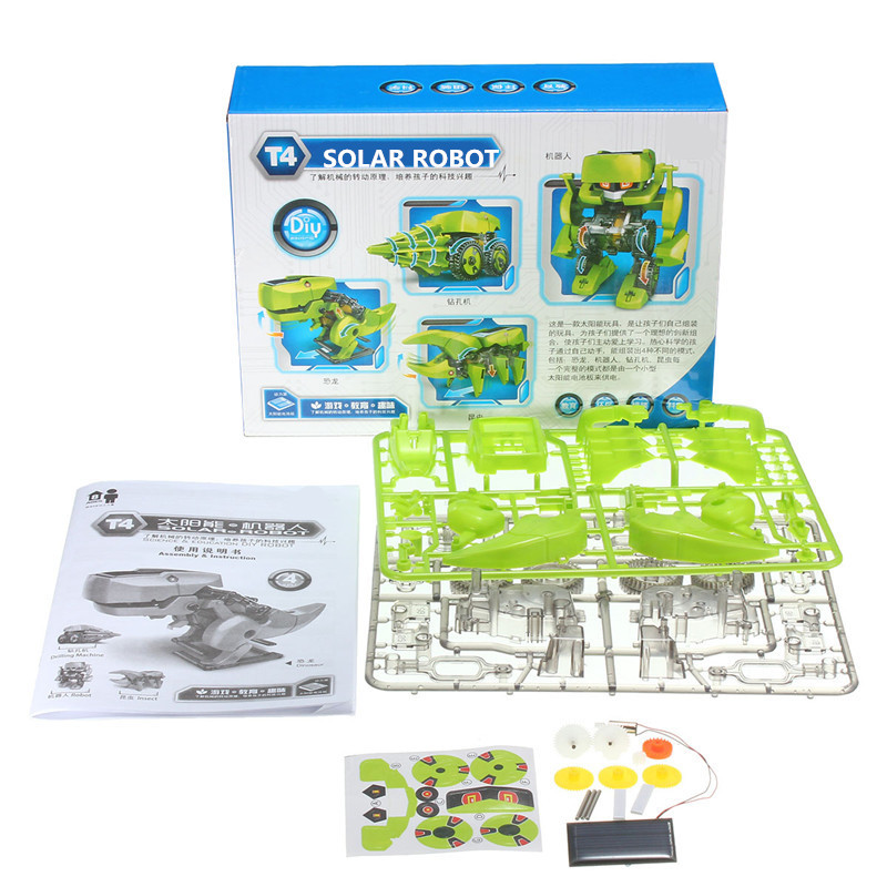 4 In 1 Solar Robot DIY Assemble Educational Learning Machine Dinosaur