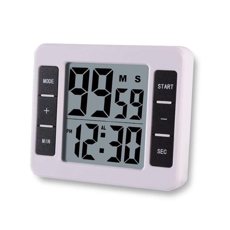 Loskii KC 12 Electric Digital Kitchen Timer Multifuntional Cooking Tool  Magnetic Backing Stand With Large