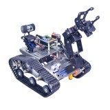 Xiao R WiFi Video Robot Arm Car with Gimbal Camera Raspberry Pi 3 Built-in Bluetooth Wifi Module