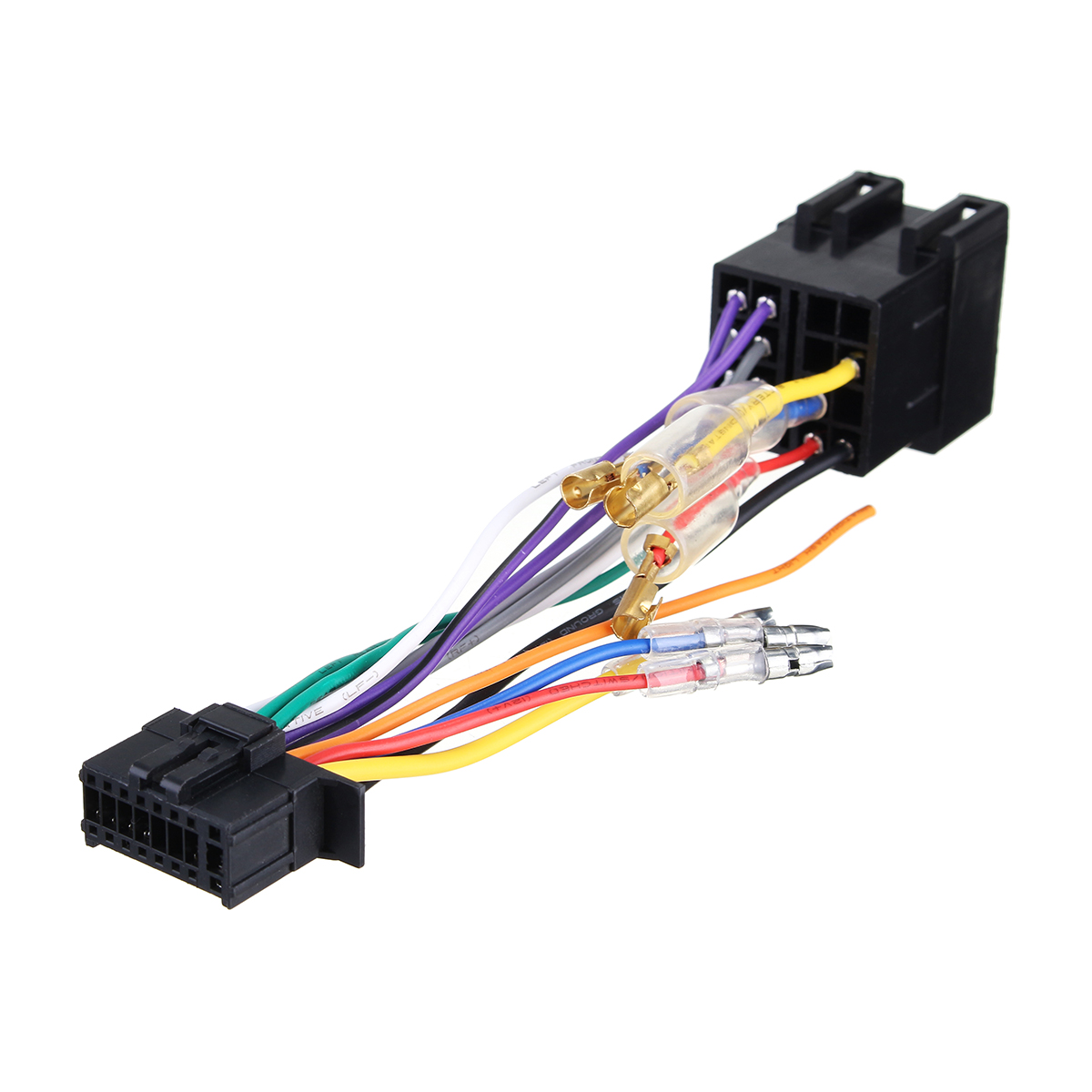 16pin car stereo radio wiring harness connector plug iso. Black Bedroom Furniture Sets. Home Design Ideas