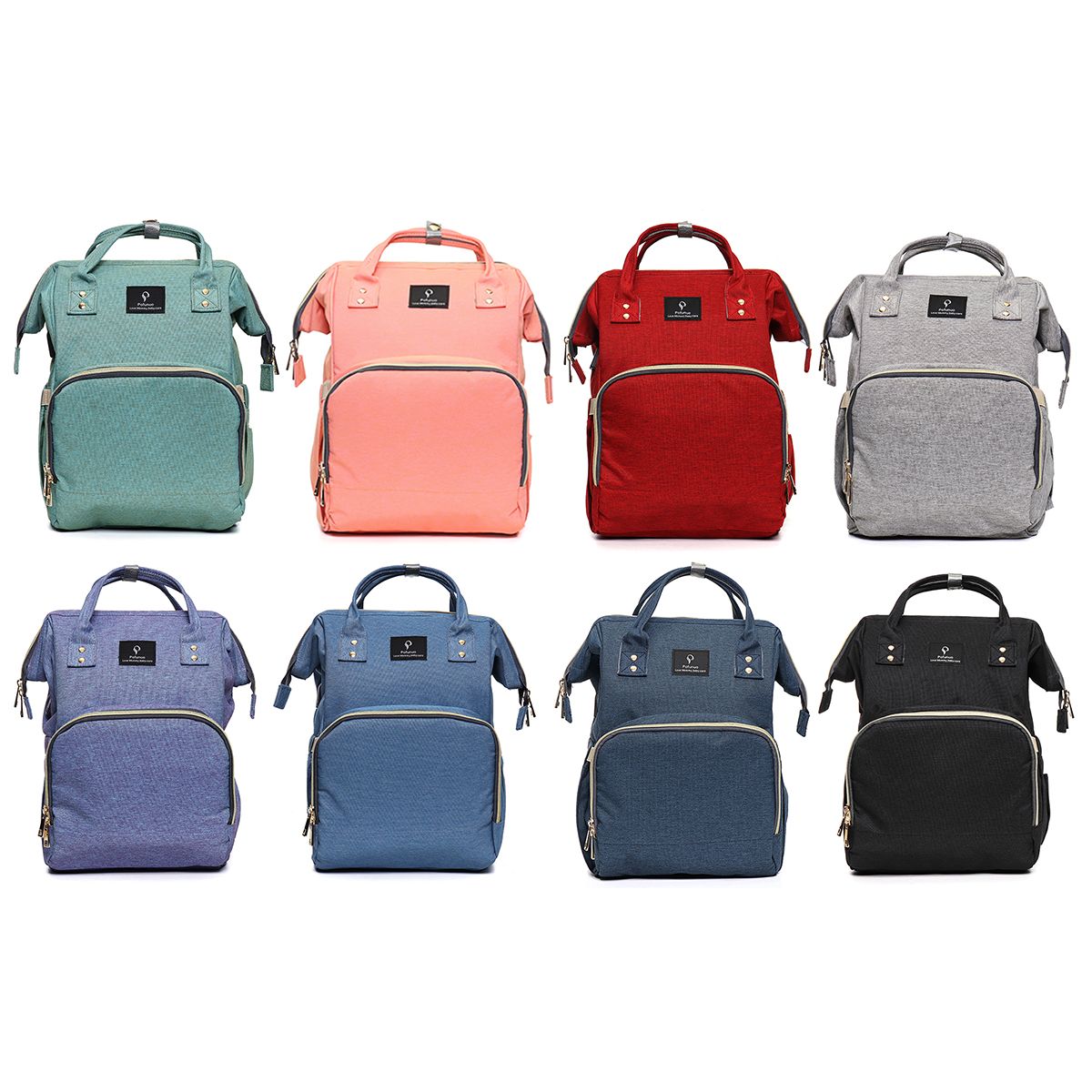 USB Charging Waterproof Oxford Baby Diaper Nappy Backpack Mummy Travel Bag