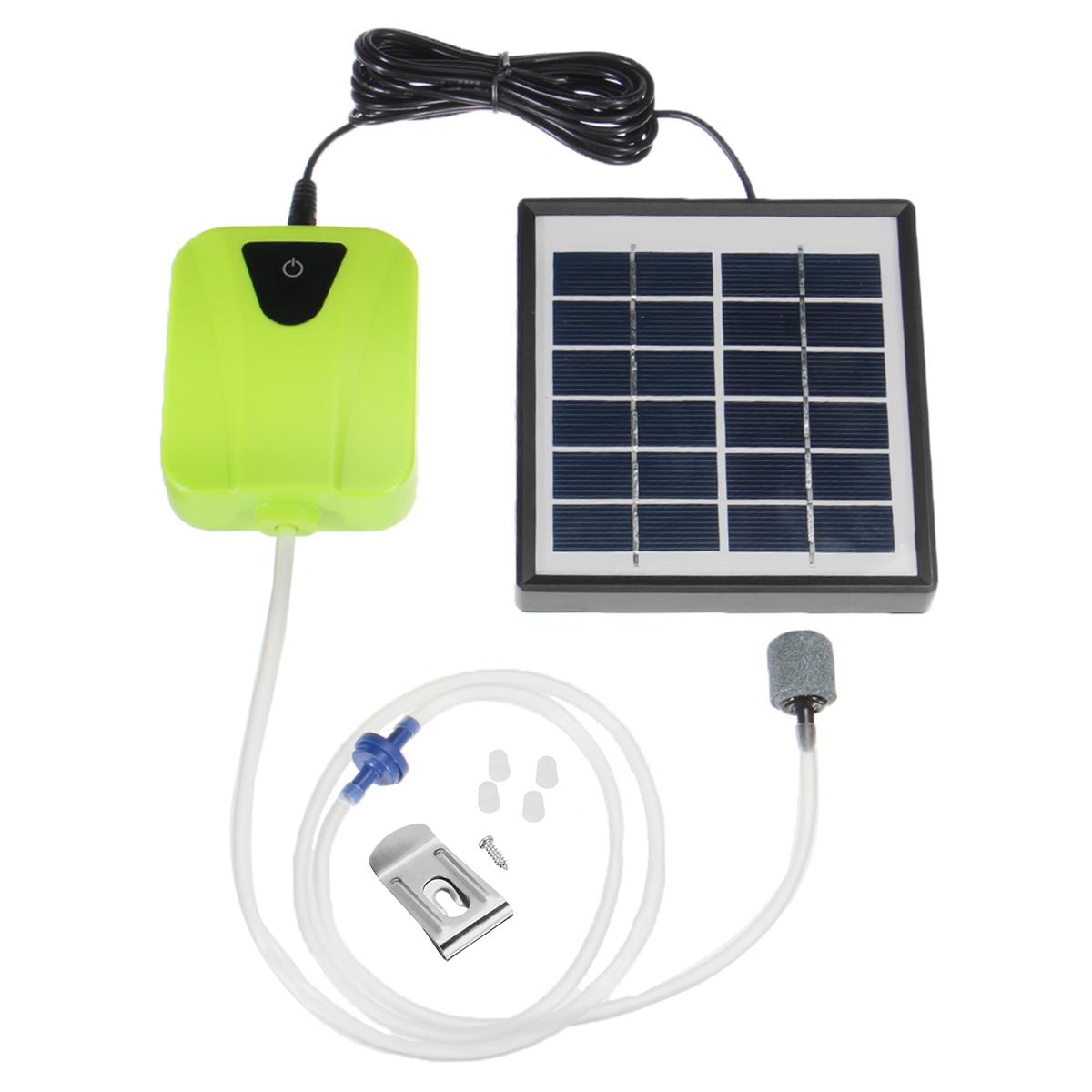 2 5w Oxygenator Air Pump Outdoor Solar Power Pond Aquarium