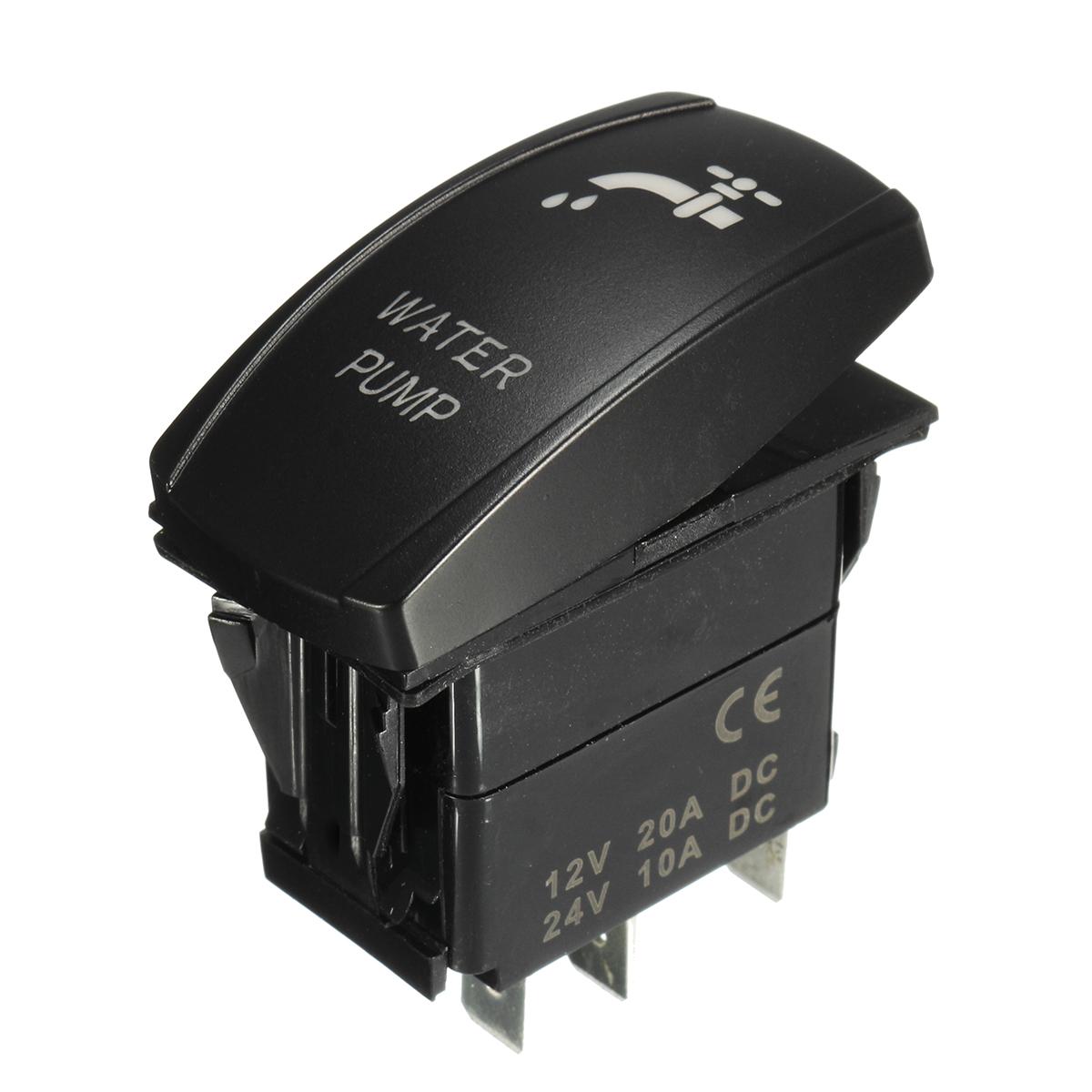 SPST 12V 20A 5Pin ON/OFF Rocker Toggle Switch Water Pump LED Rocker Switch