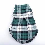 100% Cotton Pet Dog Plaid Stripe T-Shirt Puppy Vest Coat For Small Dog Clothes Classical Style