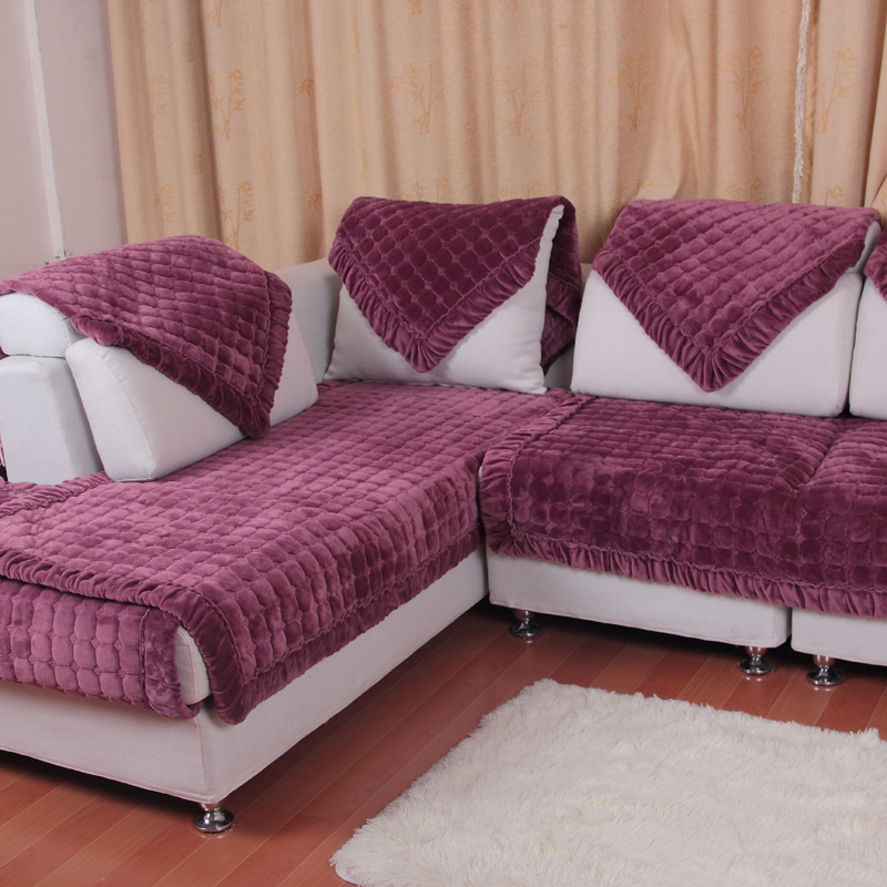 Honana SC-587 European Flannel Simple Winter Plush Non-slip Cushion ...