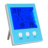 CH-904 Digital Thermometer Hygrometer Temperature Humidity Tester LED Backlight Time Date Calendar Alarm Clock Display Indoor