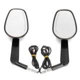 Black Rear Mirrors Turn Signals For Harley Davidson V-ROD Muscle VRSCF 09-17