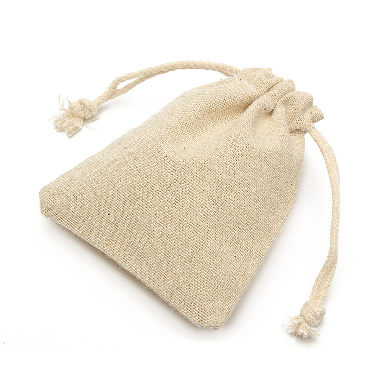 30x Small Burlap Linen Jute Sack Jewelry Pouch Drawstring Wedding Gift Mini Bags