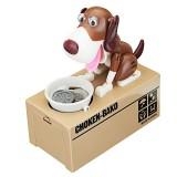 Creative Cute Robotic Dog Model Piggy Coin Bank Money Save Pot Box