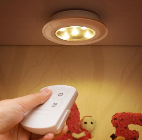 Wireless Remote Control Bright LED Night Light Battery ...