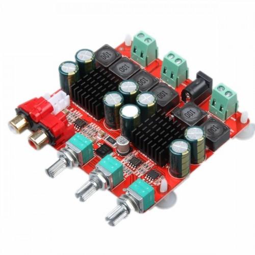 SANWU TPA3116 2.1 Version DC 12-26V Power Amplifier Board 2x50+100W 3 Channel Digital Speaker Power Amplifier Board