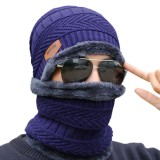 Outdoor Fleece Hat Riding Ski Windproof Knitting Caps Cycling Running Sport Mask Sport Warm Scarf
